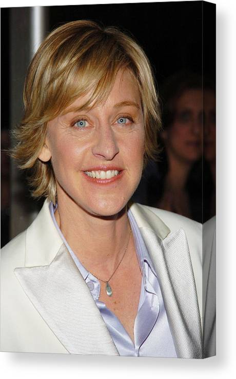 Arrivals Canvas Print featuring the photograph Ellen Degeneres Arrives On The Red by Everett