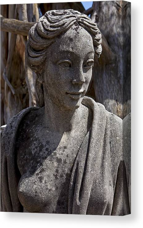 Female Canvas Print featuring the photograph Female Statue by Garry Gay