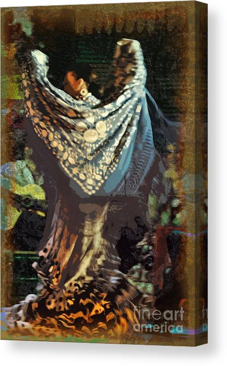 Flamenco Canvas Print featuring the photograph Flamenco Series No 1 by Mary Machare