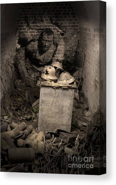 Trench Warfare Canvas Print featuring the photograph For Our Today's by Paul Holman