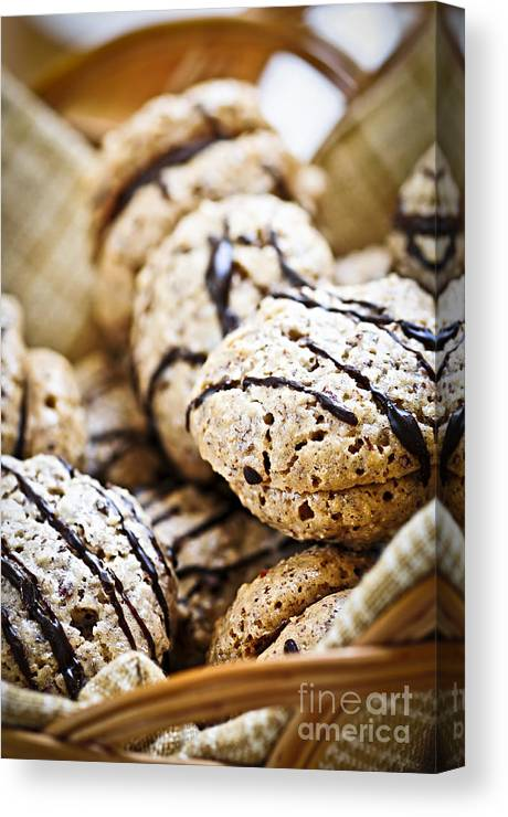 Cookie Canvas Print featuring the photograph Hazelnut Cookies by Elena Elisseeva