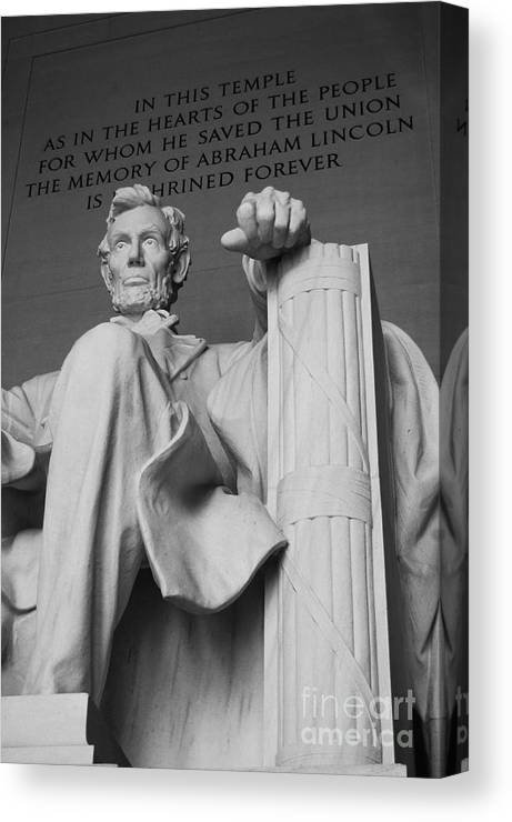 Lincoln Canvas Print featuring the photograph Lincoln Enshrined by Amy Varner
