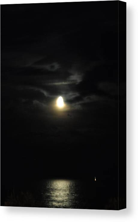 Ocean Canvas Print featuring the photograph Moon Light In Og by Joe Burns