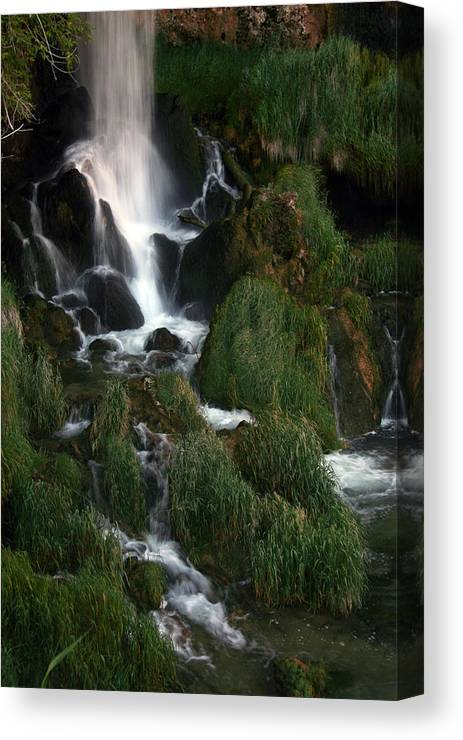 Waterfall Canvas Print featuring the photograph Perfect Fall Of Nature by Linda Bisbee