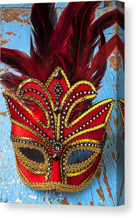 Red Mask Canvas Print featuring the photograph Red Mask by Garry Gay