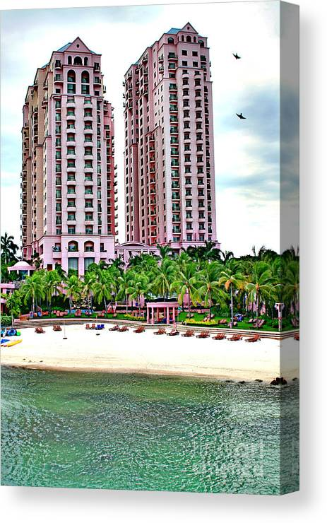 Hotel Canvas Print featuring the photograph Resort Hotel Mactan Island by Anita Antonia Nowack