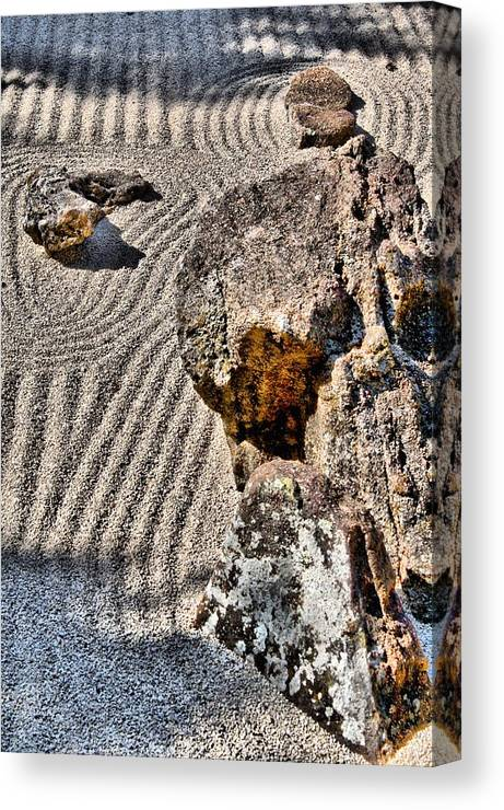 Photography Canvas Print featuring the photograph Rock Garden - Hdr by Lynnette Johns