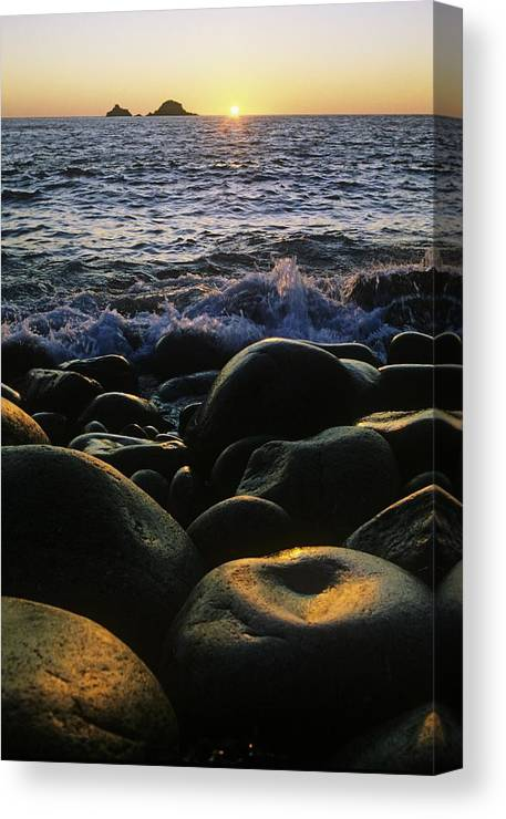 Basalt Canvas Print featuring the photograph Rocks At The Coast, Giants Causeway by The Irish Image Collection