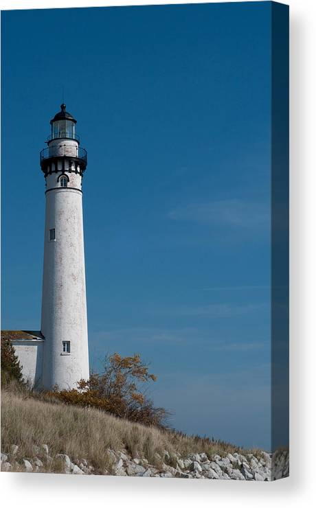 Lighthouse Canvas Print featuring the photograph South Manitou Island Lighthouse by David Arment