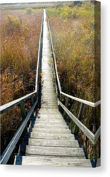 Boardwalk Canvas Print featuring the photograph The Boardwalk by Jenny Gandert