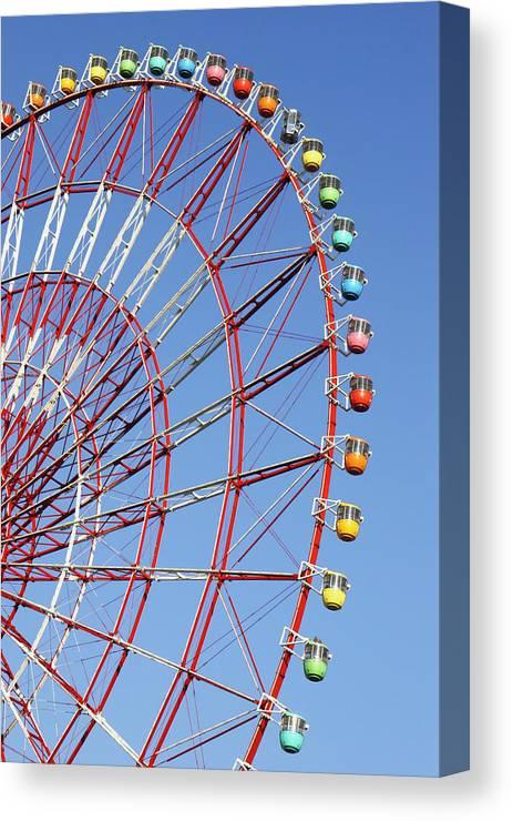 Wonder Wheel Canvas Print featuring the photograph The Wonder Wheel At Odaiba by Axiom Photographic