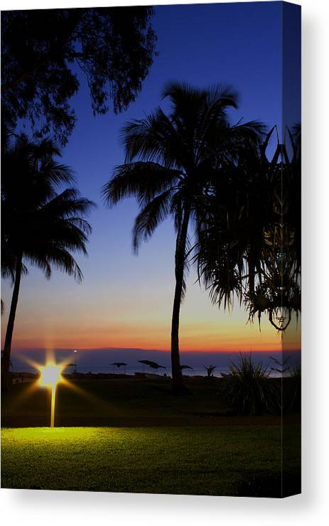 Australian Landscape Photographer Canvas Print featuring the photograph Tropical Sunset by Paul Robb