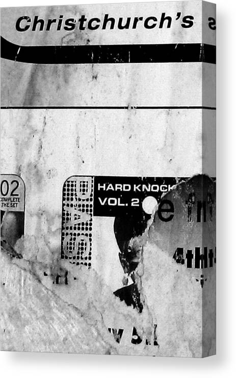 Urban Canvas Print featuring the photograph Chch's Hard Knock by Roseanne Jones
