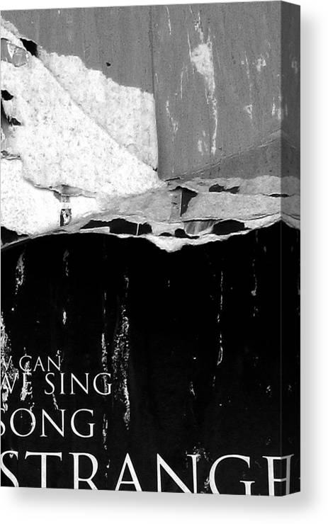 Urban Canvas Print featuring the photograph Strange by Roseanne Jones