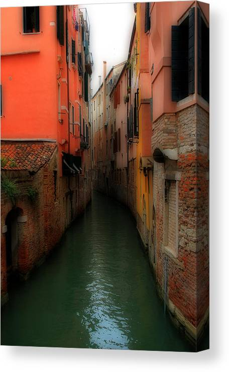 Venice Canvas Print featuring the photograph Venice Canals 2 by Andrew Fare