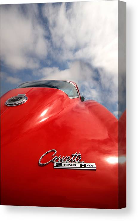 Automotive Canvas Print featuring the photograph Vette Window by Peter Tellone