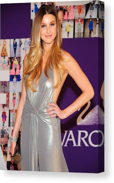 Whitney Port Canvas Print featuring the photograph Whitney Port Wearing David Meister by Everett