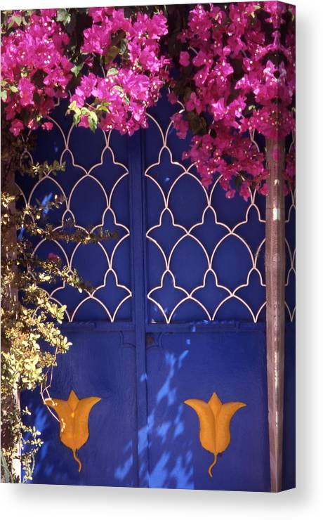 Greece Canvas Print featuring the photograph Koskinou Bougainvillea by Steve Outram
