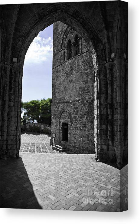 Arch Canvas Print featuring the photograph A Gothic View by Madeline Ellis