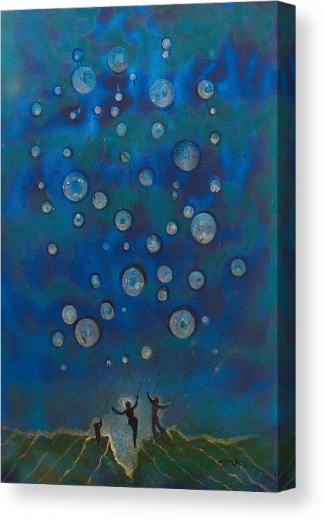 Ballooning Canvas Print featuring the painting Ballooning by Ione Citrin
