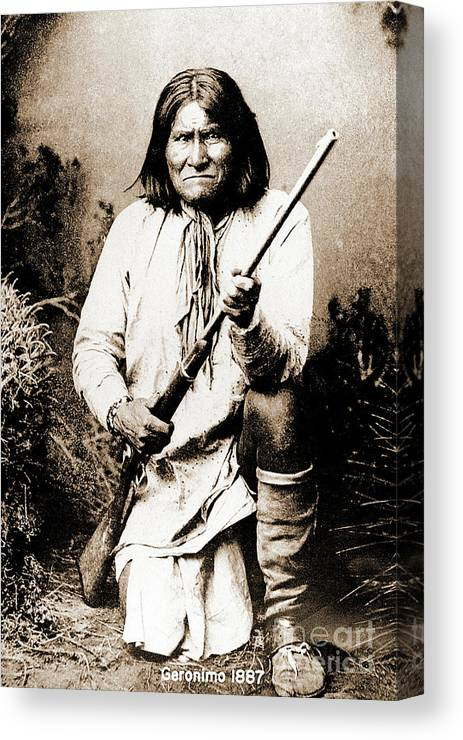 Native Canvas Print featuring the photograph Geronimo by Gary Wonning