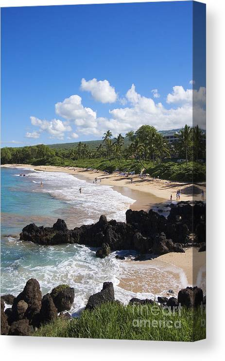 Beach Canvas Print featuring the photograph Makena, Maluaka Beach by Ron Dahlquist - Printscapes