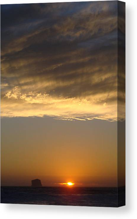 Landscape Canvas Print featuring the photograph Olympic Sunset by Ty Nichols