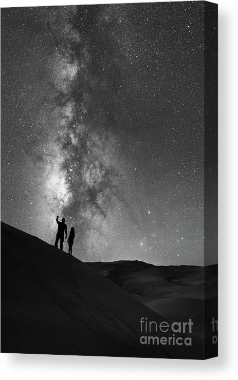 Star Crossed Lovers Canvas Print featuring the photograph Stargazers by Michael Ver Sprill