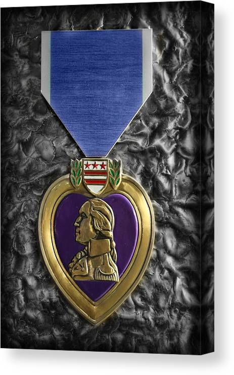 The Purple Heart Canvas Print featuring the photograph The Purple Heart by Lee Dos Santos