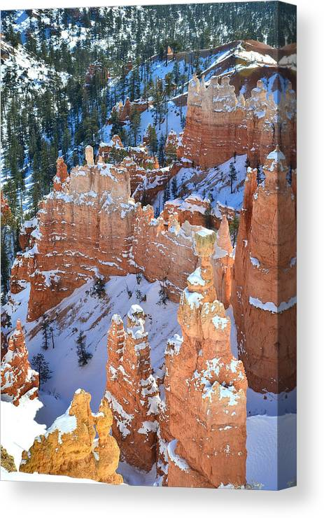 Bryce Canyon National Park Canvas Print featuring the photograph Thor's Hammer by Ray Mathis