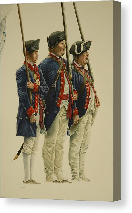 History Canvas Print featuring the painting 1776 by RJ Tomascik