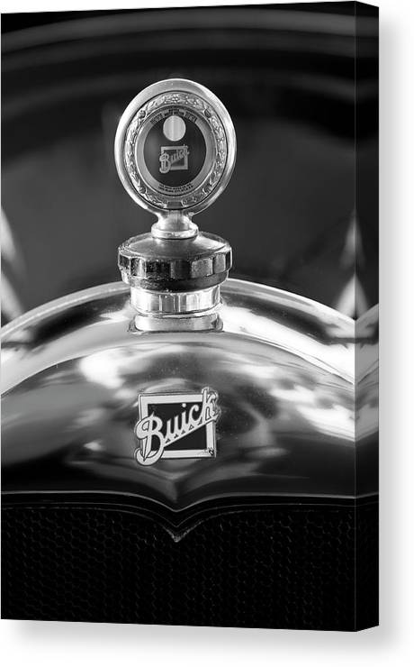 1928 Buick Canvas Print featuring the photograph 1928 Buick Hood Ornament 2 by Jill Reger