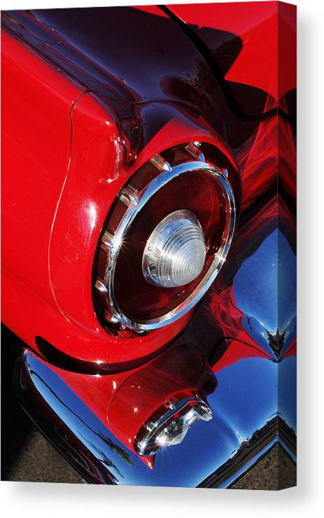 Car Canvas Print featuring the photograph 1957 Ford Thunderbird Taillight by Jill Reger