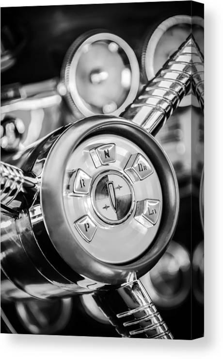 1958 Edsel Ranger Canvas Print featuring the photograph 1958 Edsel Ranger Push Button Transmission 2 by Jill Reger