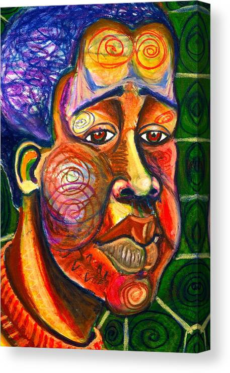 Maliksart Canvas Print featuring the painting Faces Unseen Series by Malik Seneferu