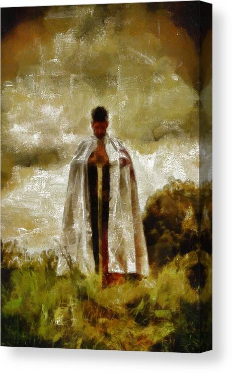 Rome Canvas Print featuring the painting Knights Templar by Pierre Blanchard