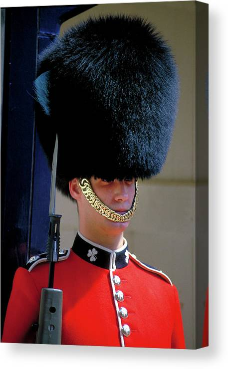 Bearskin Hat Canvas Print featuring the photograph Royal Guard by Carl Purcell
