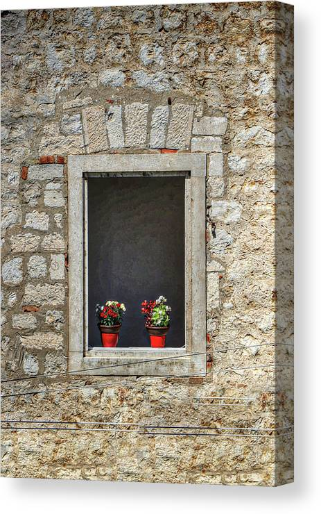 Dubrovnik Croatia Canvas Print featuring the photograph Dubrovnik Croatia by Paul James Bannerman