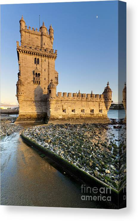 Age Canvas Print featuring the photograph Tower Of Belem by Andre Goncalves