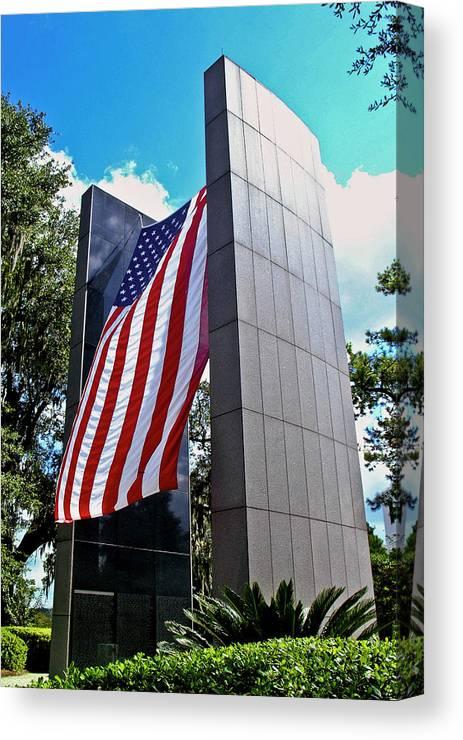 Color Photograph Canvas Print featuring the photograph Viet Nam Veteran's Memorial by Wayne Denmark
