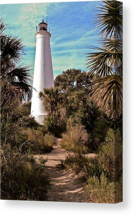 Color Photography Canvas Print featuring the photograph St Marks Lighthouse by Wayne Denmark