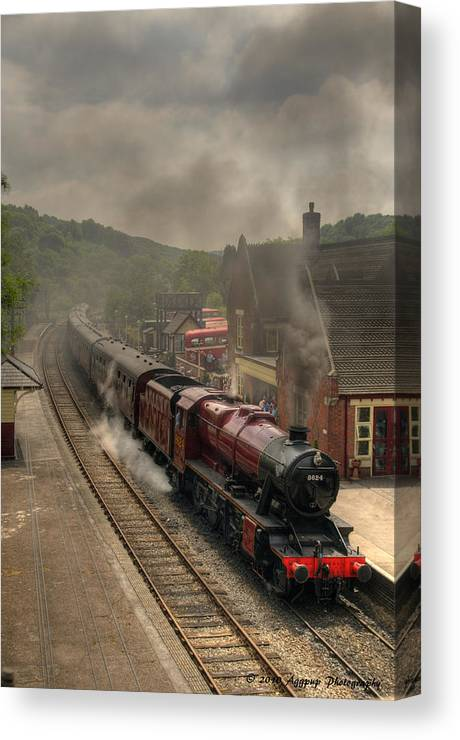 48624 Canvas Print featuring the photograph 8624 At Froghall Station by David J Knight