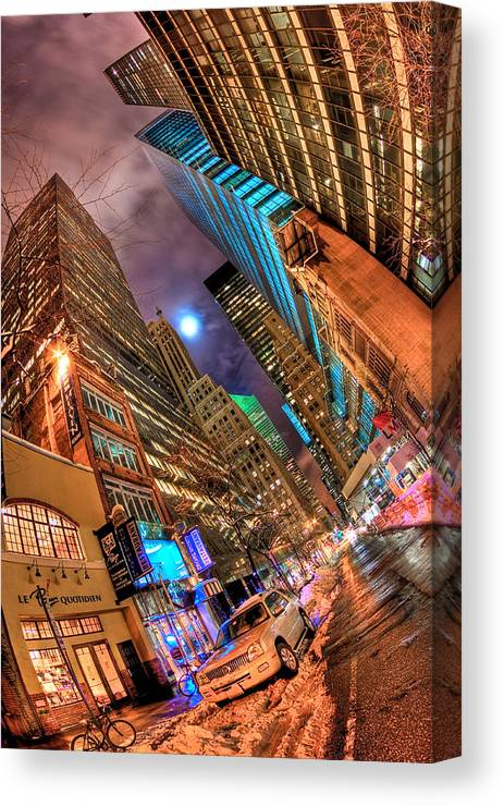 Nyc Canvas Print featuring the photograph A City's Patience by Joshua Ball