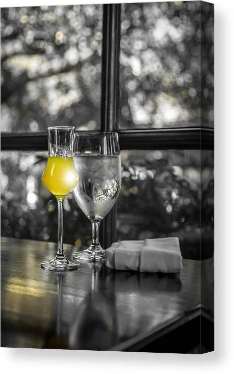 Limoncello Canvas Print featuring the photograph A Drop Of Golden Sun by Tony Noto