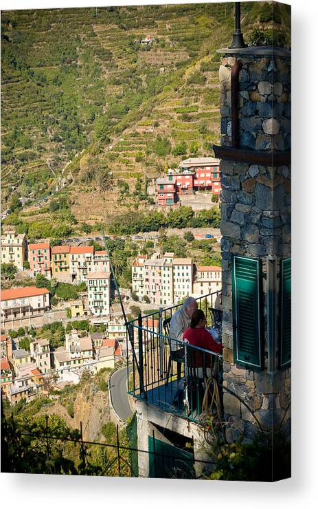 Italy Canvas Print featuring the photograph A Meal With A View by Carl Jackson