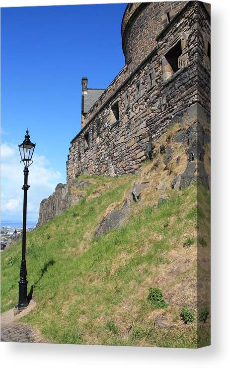 Landscapes Canvas Print featuring the photograph A View From The Castle by Martina Fagan