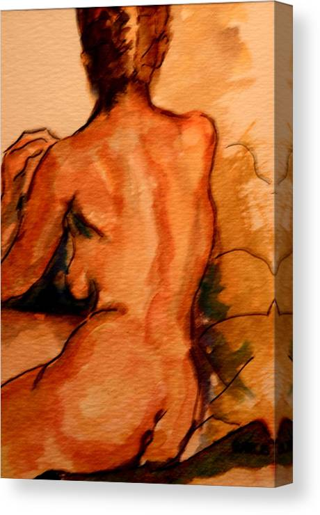 Female Canvas Print featuring the painting After The Bath by Dan Earle