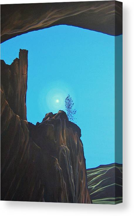 New Mexico Canvas Print featuring the painting Anasazi Dreams by Hunter Jay