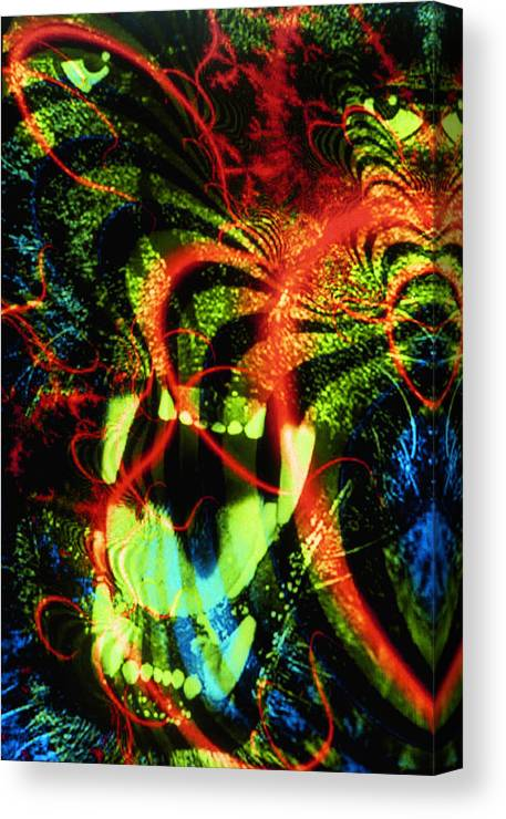 Animal Canvas Print featuring the mixed media Anger Tunnel by Johnny Aguirre