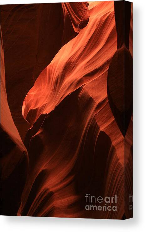 Antelope Canyons Canvas Print featuring the photograph Antelope Canyon by Timothy Johnson